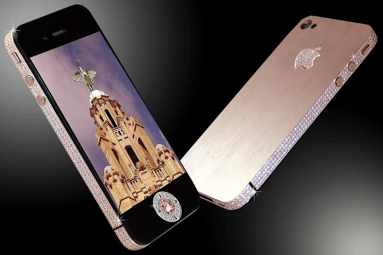 El tercer celular mas caro: Stuart Hughes iPhone 4 Diamond Rose - usd 8 millones
